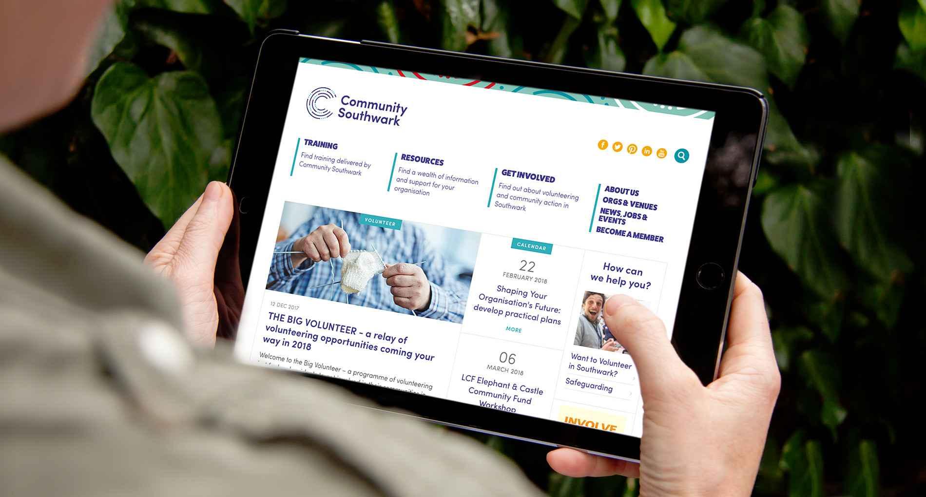 community southwark website on iPad