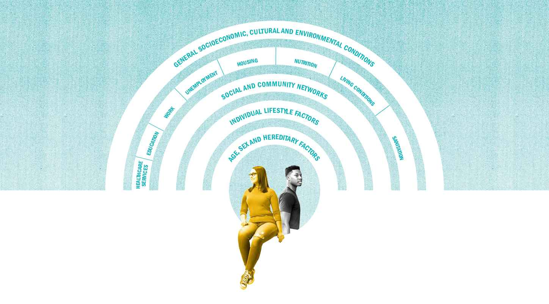 Promoting Mentally Healthy Universities circular graphic