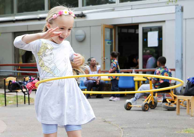 NCB Photo child hoola hoop
