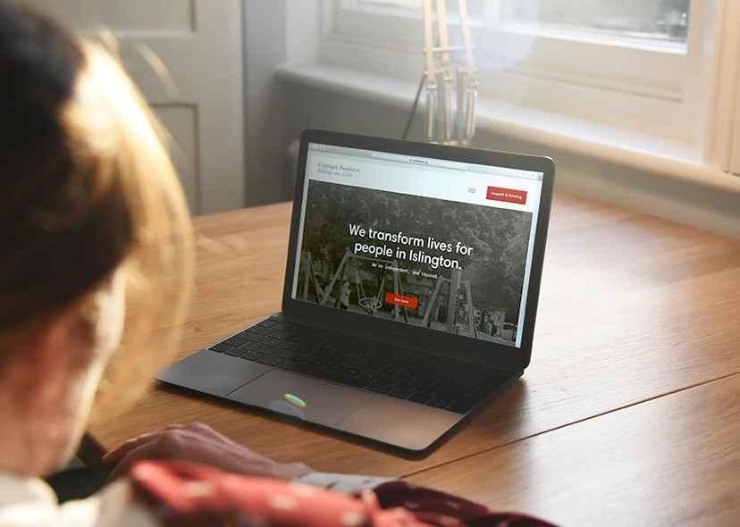 cripplegate site on a laptop