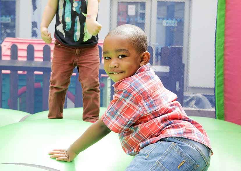 NCB Photo child on bouncy castle