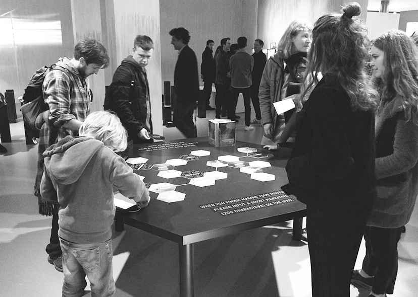 PNT Exhibition Timeline installation
