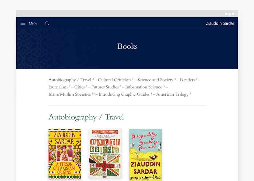 Zia website browsers