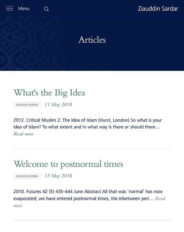Zia website iPads